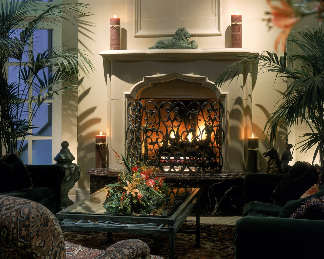 western fireplace wallpaper - photo #6