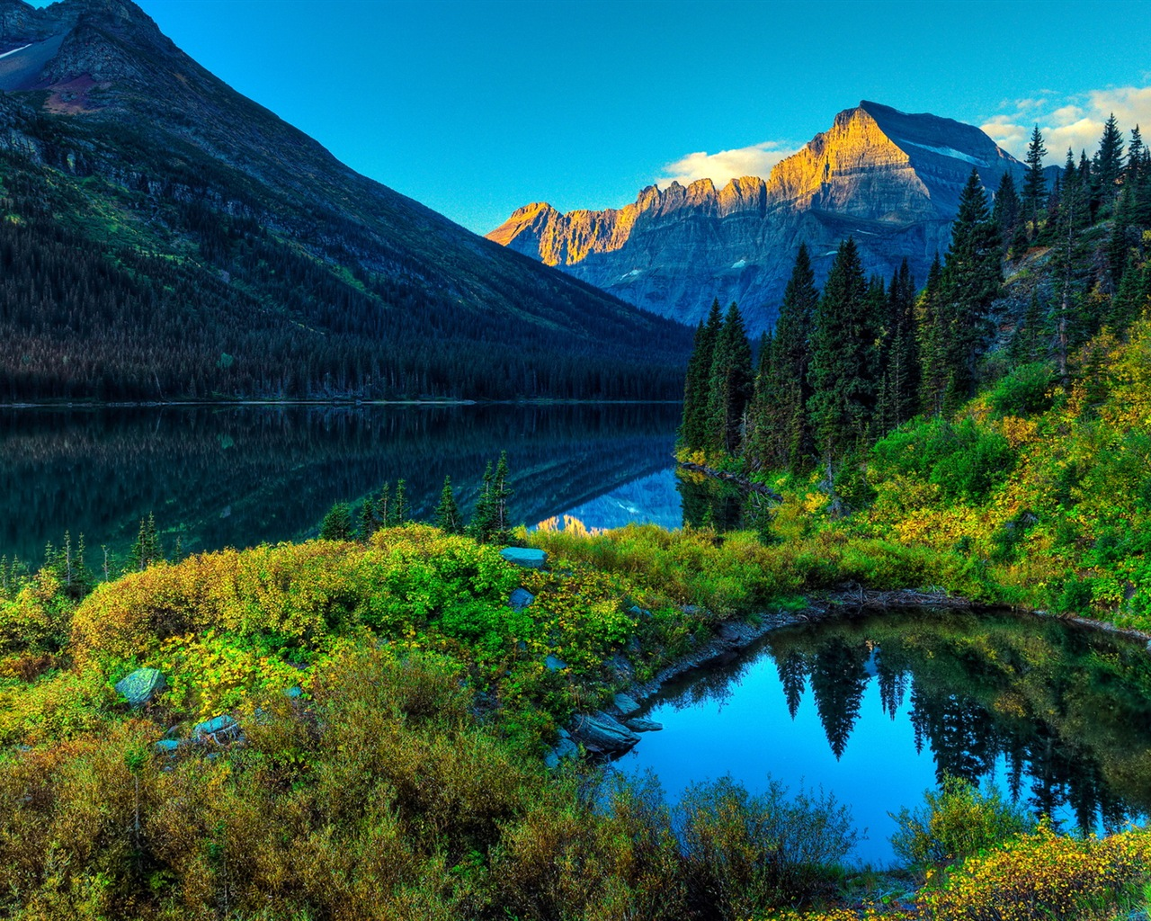 唯美自然山水风景 高清壁纸1 - 1280x1024图片