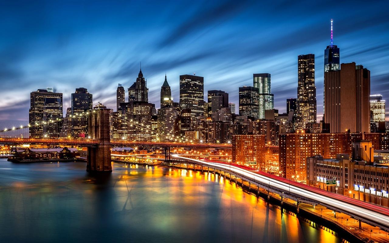 美国纽约帝国大厦城市夜景 高清壁纸 #1 - 1280x800
