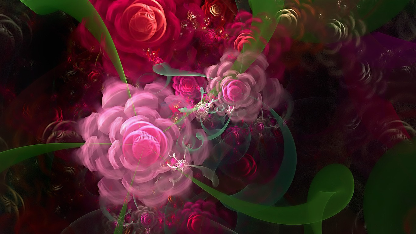 3d rose digital abstract-#main