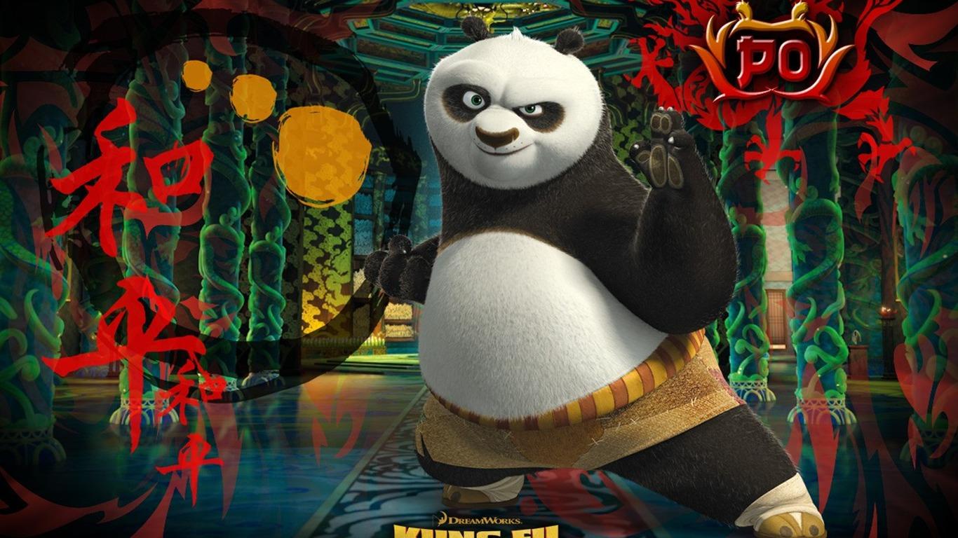 Animation 3d kung fu panda fond d 39 cran 21 1366x768 - Kung fu panda 3 telecharger ...