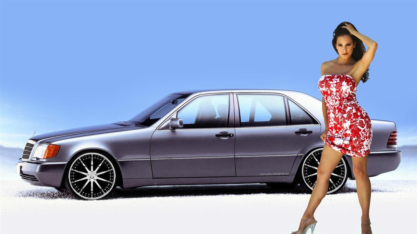 美女 一 4 1366x768 壁纸下载 香车美女 一 汽车壁纸