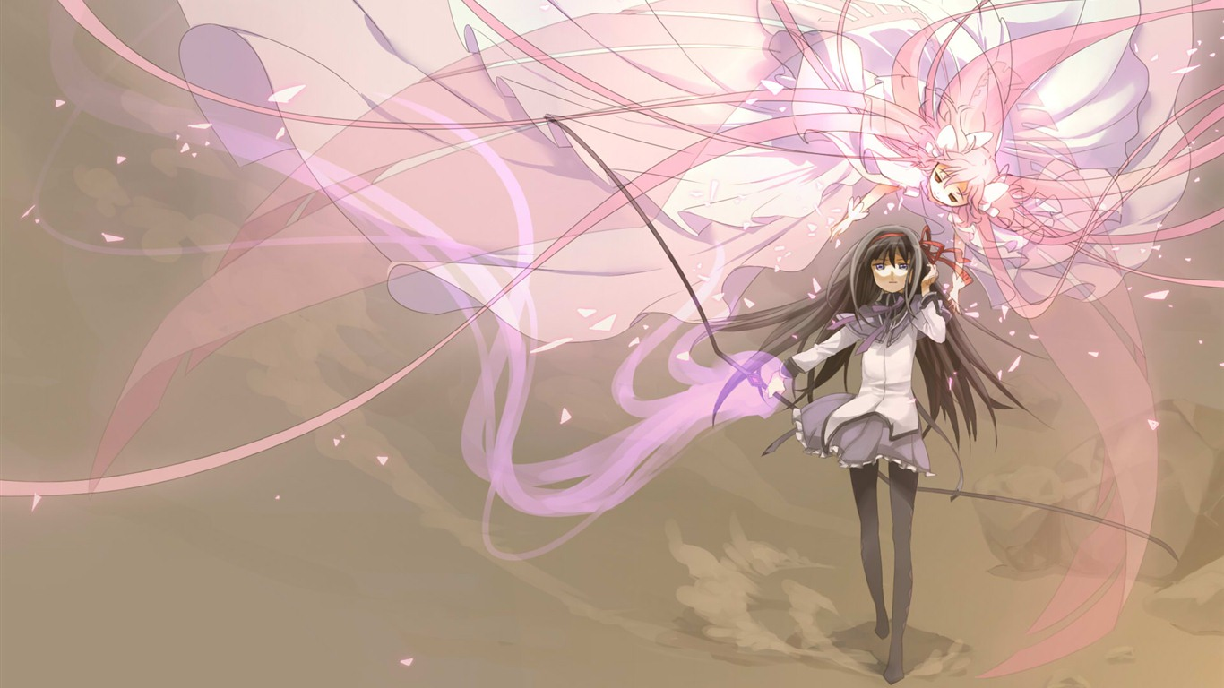 Puella Magi Madoka Magica 魔法少女小圆 高清壁纸7 - 1366x768 壁纸下载