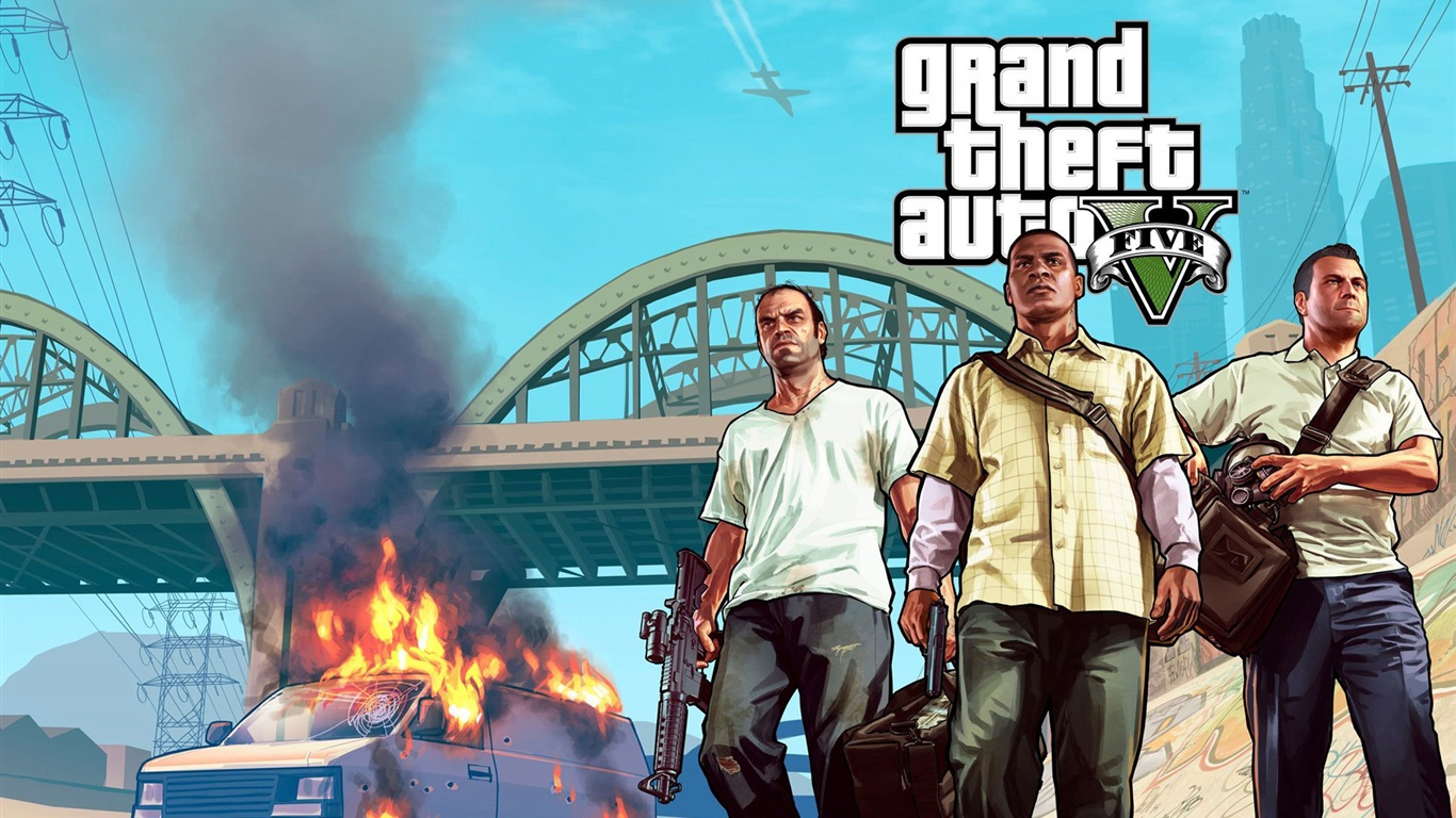 grand theft auto v gta 5 hd game wallpapers 7 1366x768