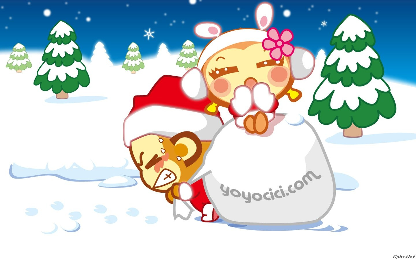 Yau giggle monkey wallpaper #12 - 1440x900