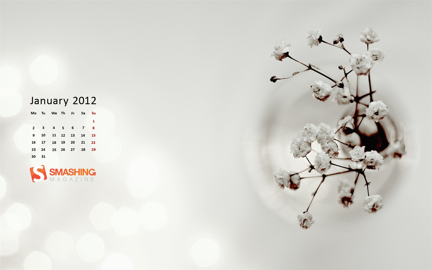 Januar 2012 Kalender Wallpapers #16 - 1440x900