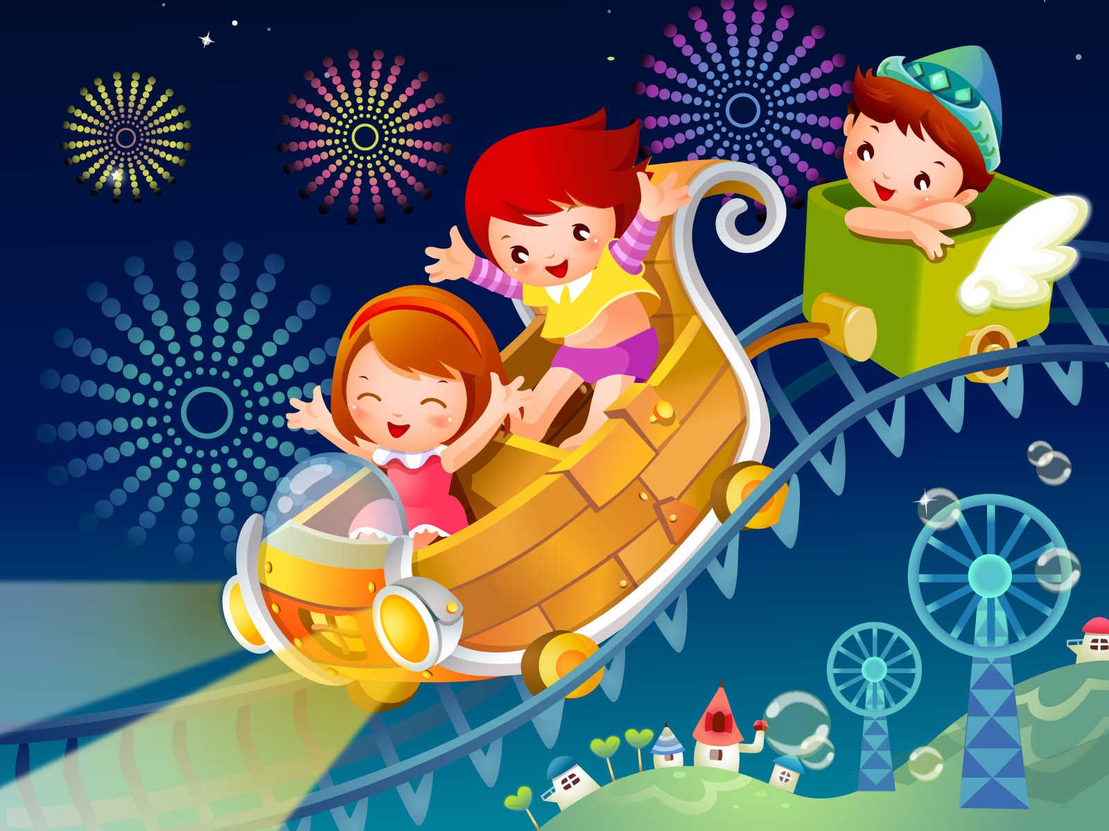 Vector Cartoon Child Wallpaper Album #14 - 1600x1200