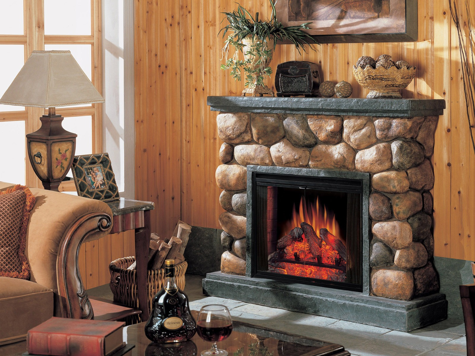 western fireplace wallpaper - photo #3