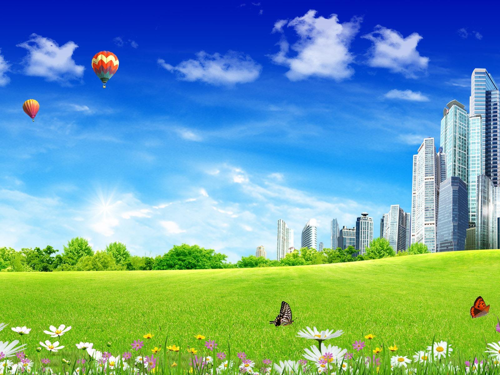 Photoshop fondos de escritorio de paisaje soleado de verano 2 15 1600x1200 fondos de - Fondos de escritorio verano ...