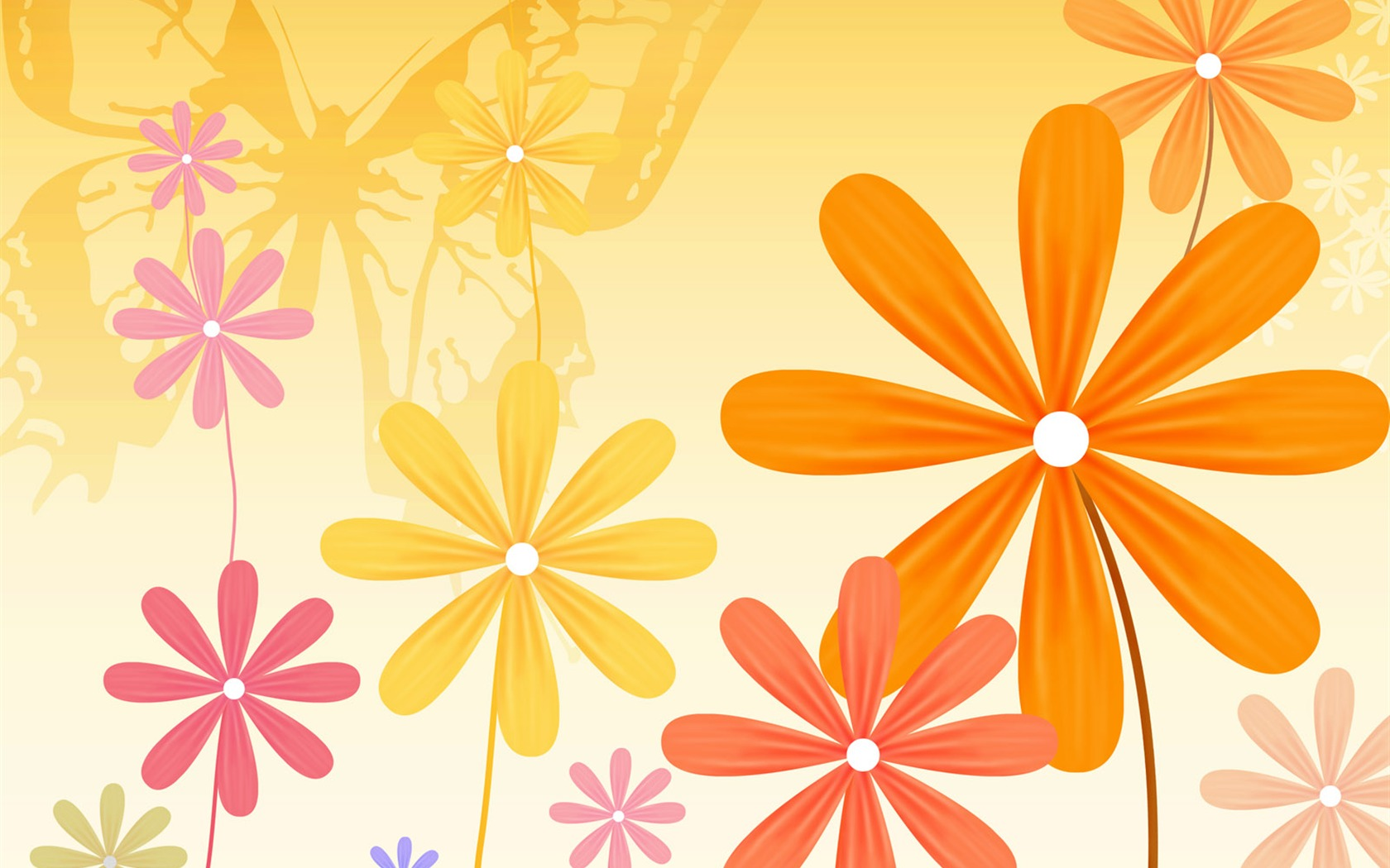 Floral Design Illustration Papier Peint 17 1680x1050