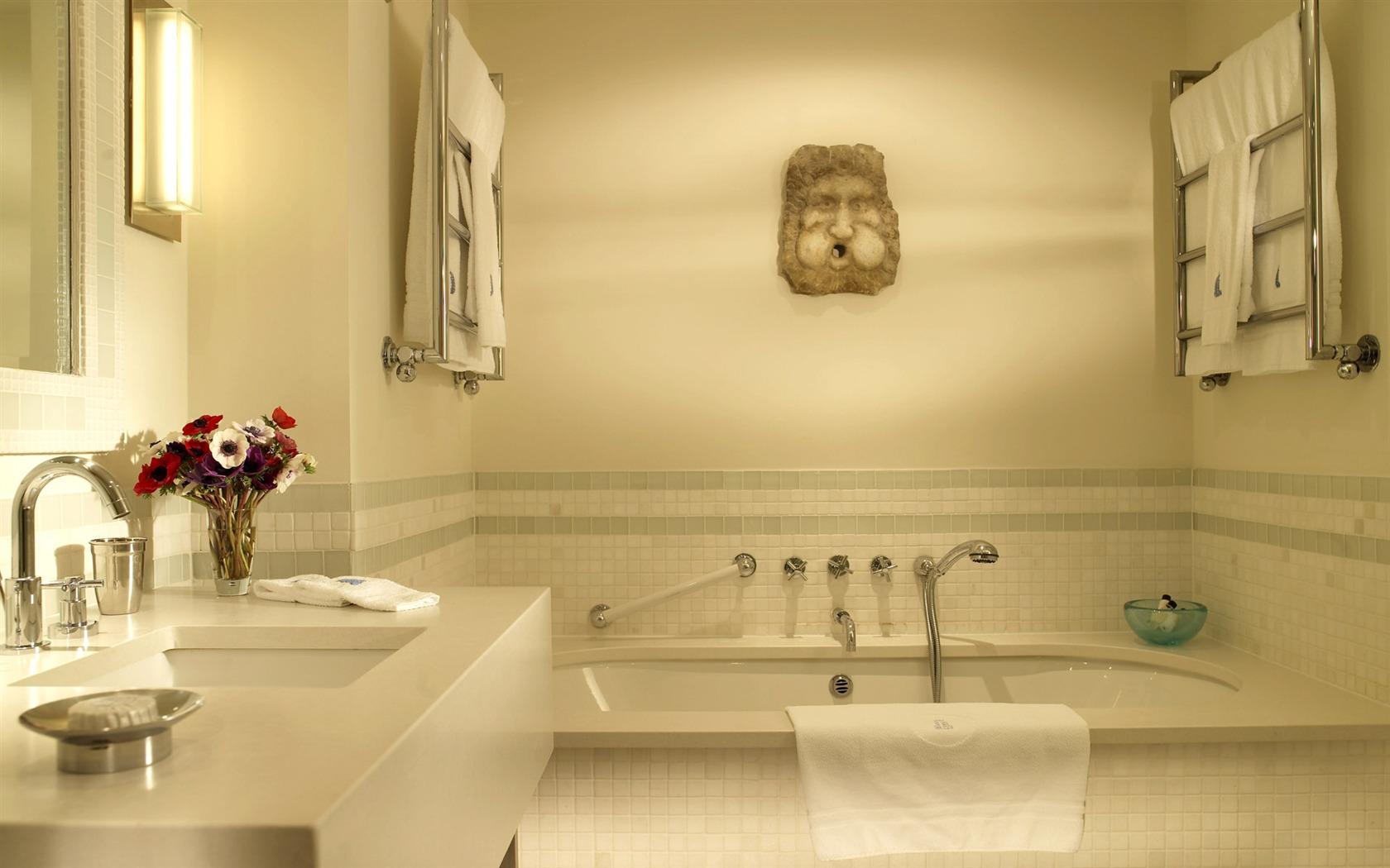 Fond d 39 cran photo salle de bain 1 2 1680x1050 fond d for Ecran salle de bain