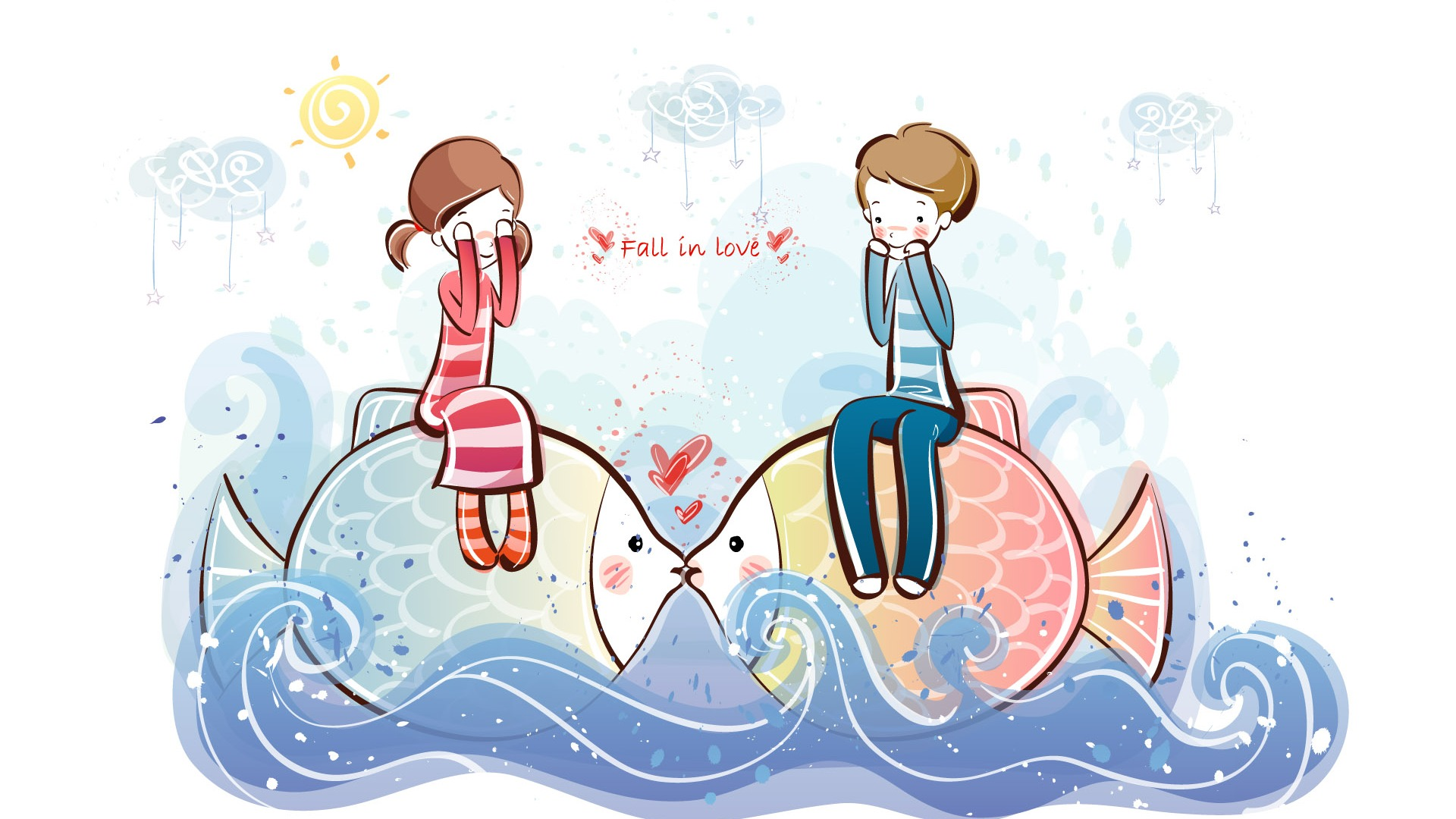 Cartoon valentine 39 s day wallpapers 2 7 1920x1080 - Cartoon valentine wallpaper ...