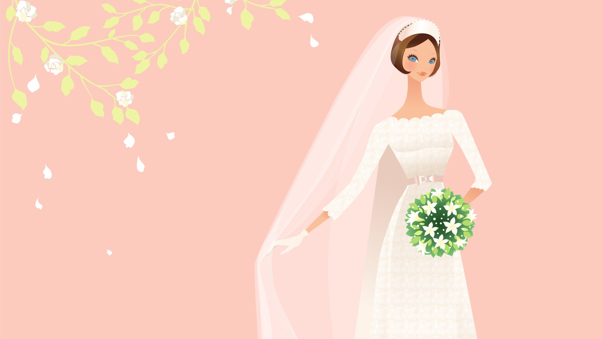 Vector Wallpaper Hochzeit Braut 2 8
