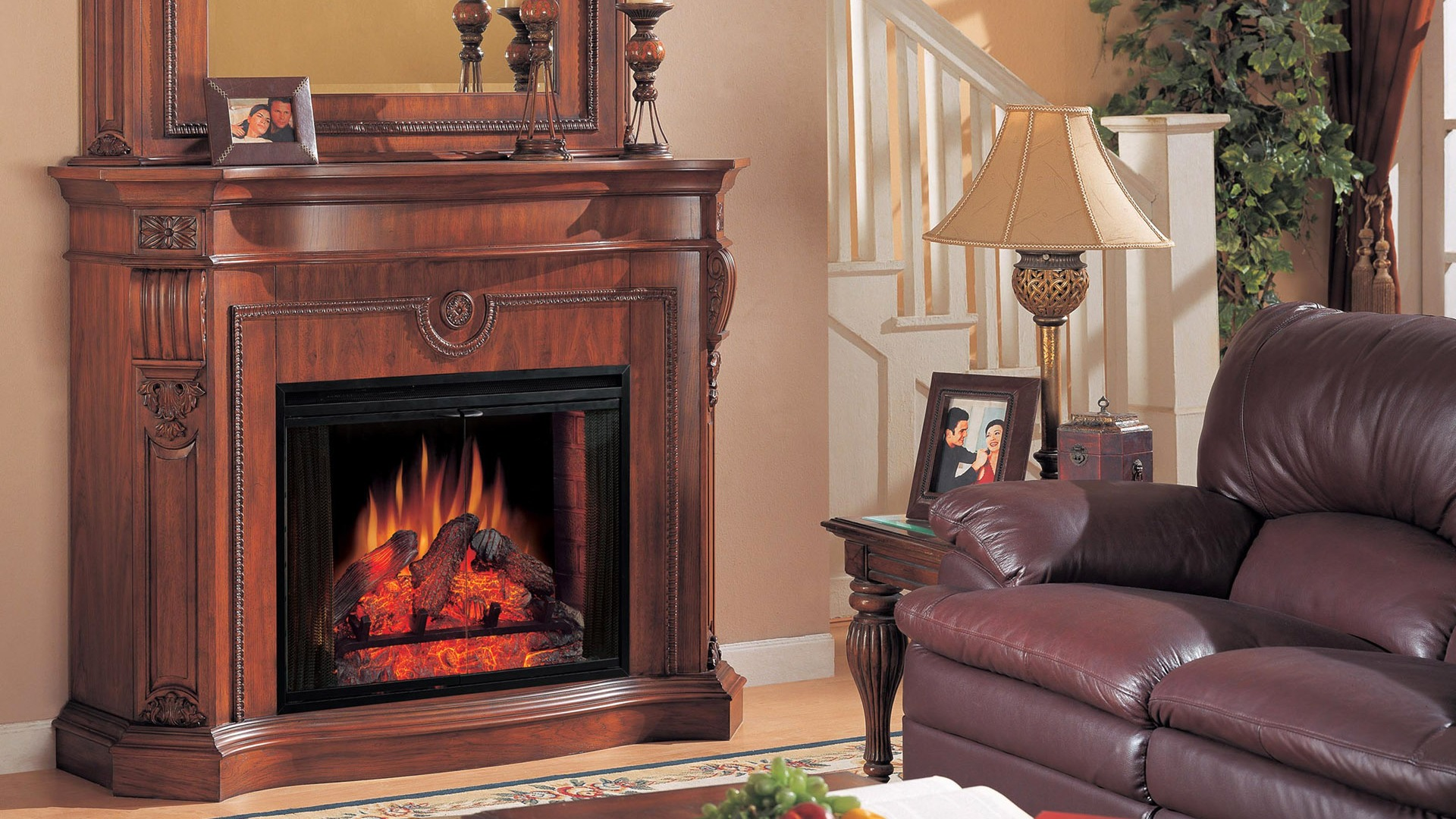 western fireplace wallpaper - photo #1