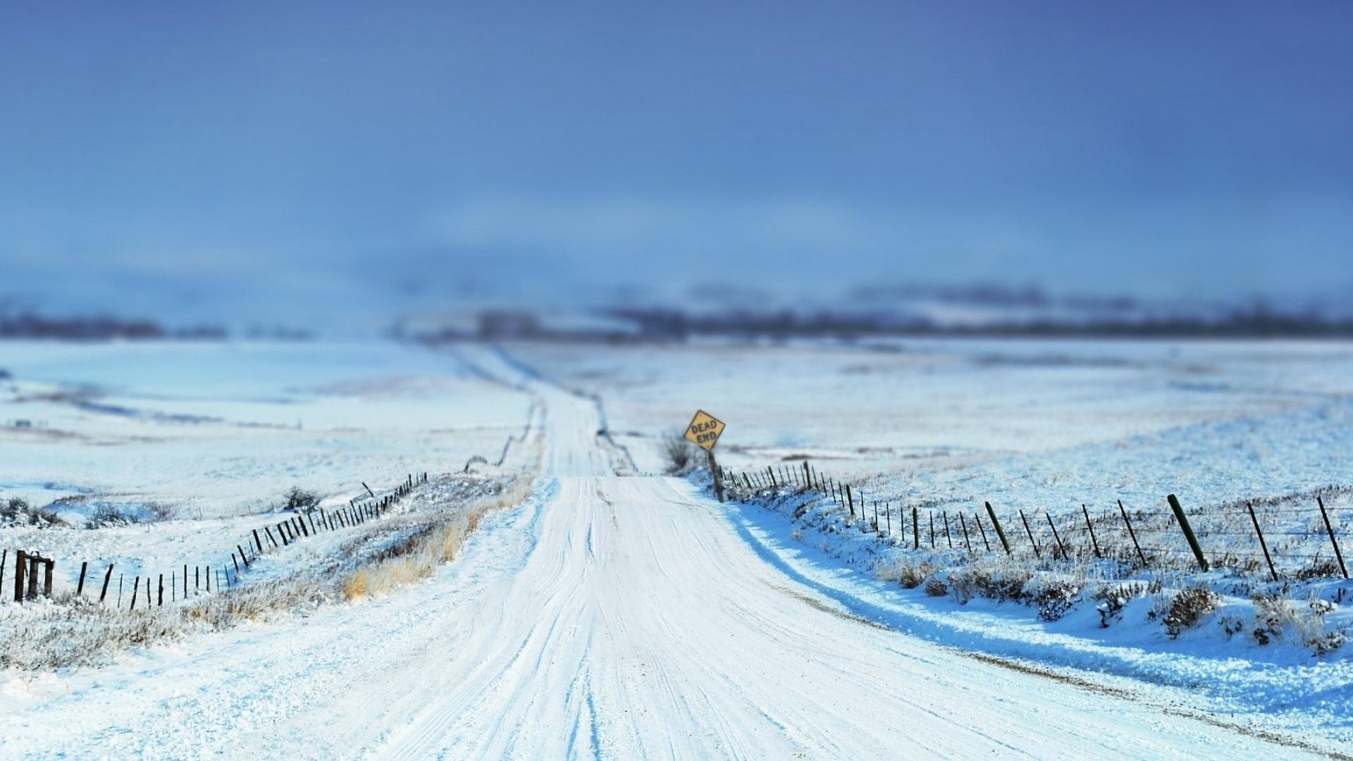 Hiver neige montagnes lacs arbres routes fonds d for Fond ecran hiver hd