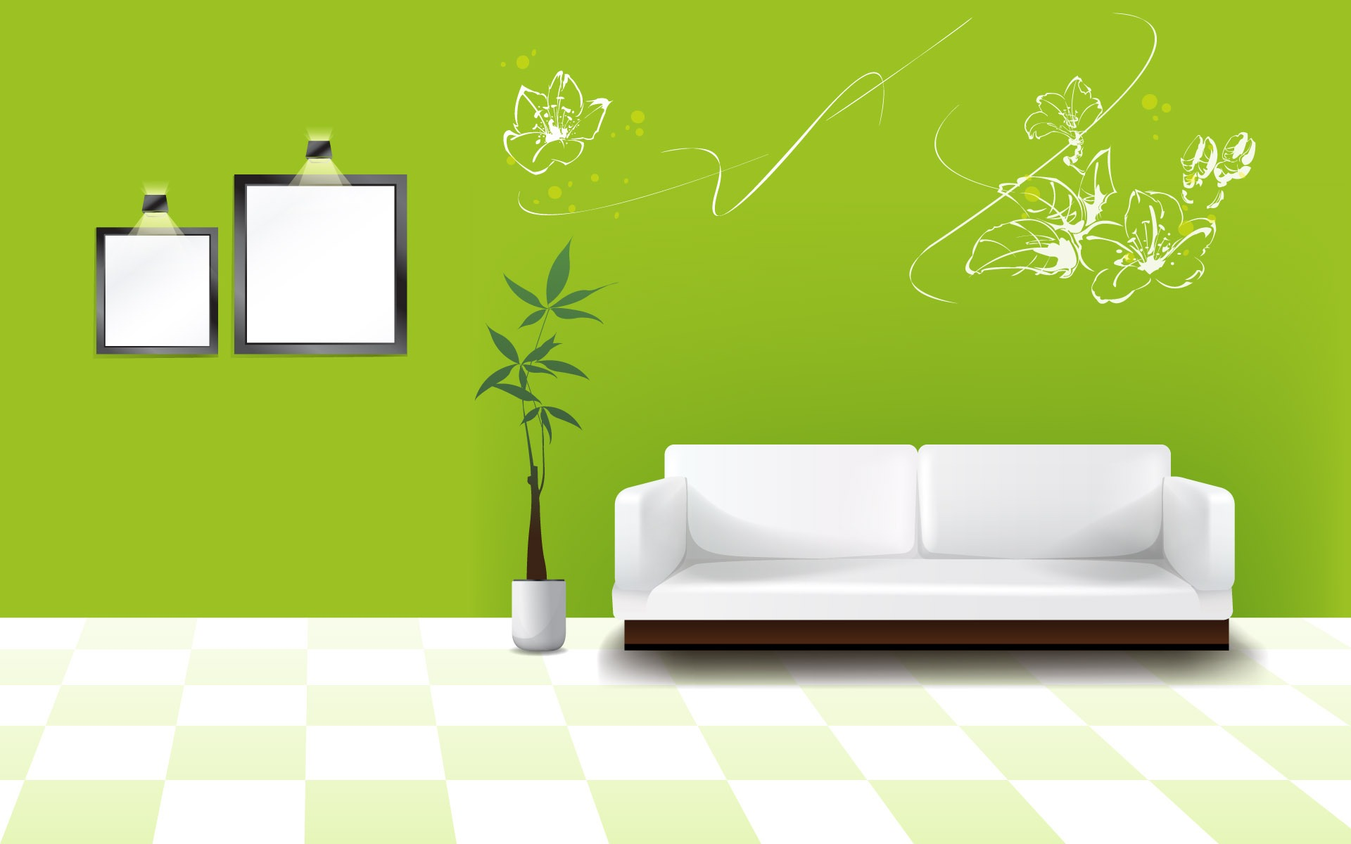 Vector fondos de escritorio de casa 1 2 1920x1200 for Interior design images vector