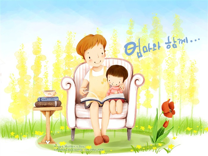 Wallpaper Dia De Las Madres: Tema De Día De La Madre De Fondos De Pantalla De Corea