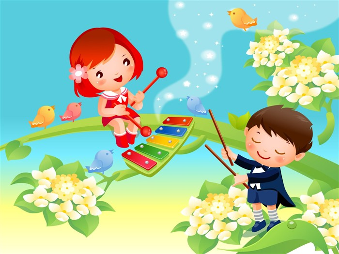 Vector Cartoon Child Wallpaper Album #16