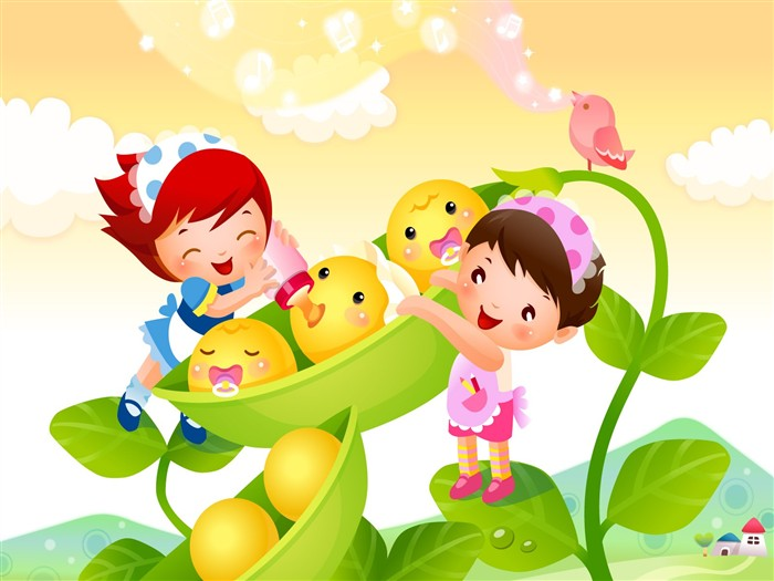 Vector Cartoon Child Wallpaper Album #18
