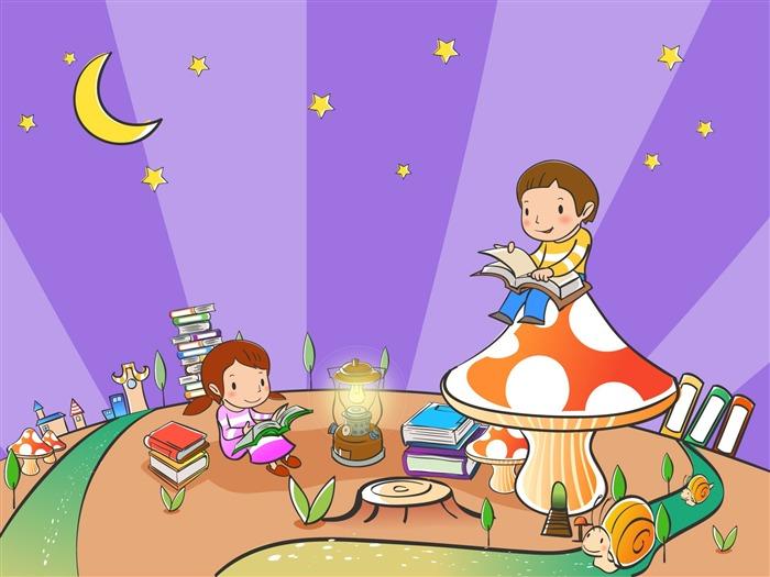Vectores de dibujos animados fondos de escritorio de la infancia 2 4 fondo de pantalla de - Fondos de escritorio animados ...