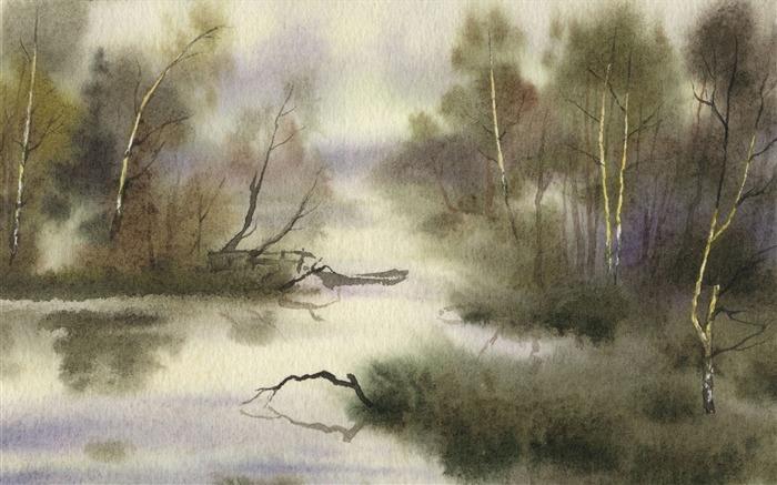 水彩景色 手绘壁纸(二)