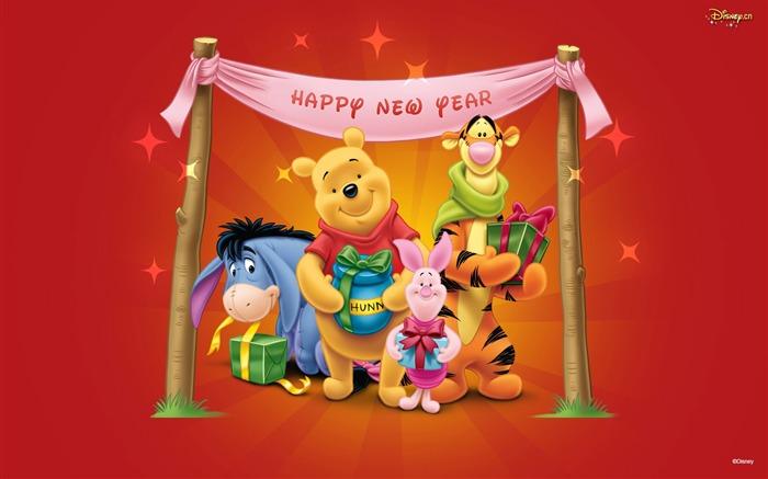 Disney Tapete Winnie Pooh : Winnie the Pooh Happy New Year 2015