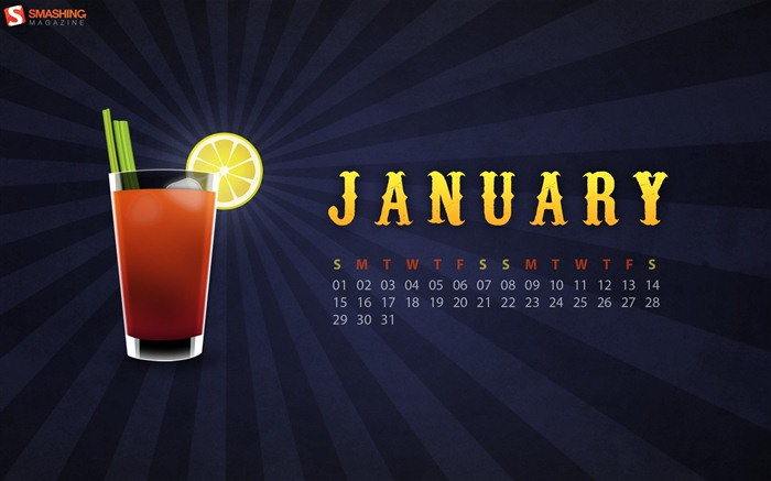 Januar 2012 Kalender Wallpapers #4