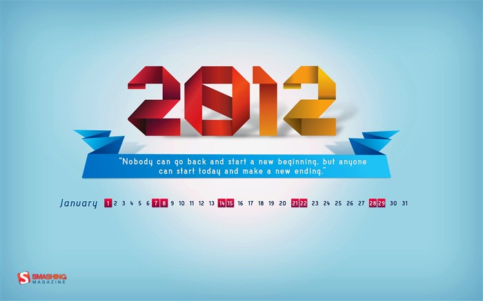 Januar 2012 Kalender Wallpapers #12