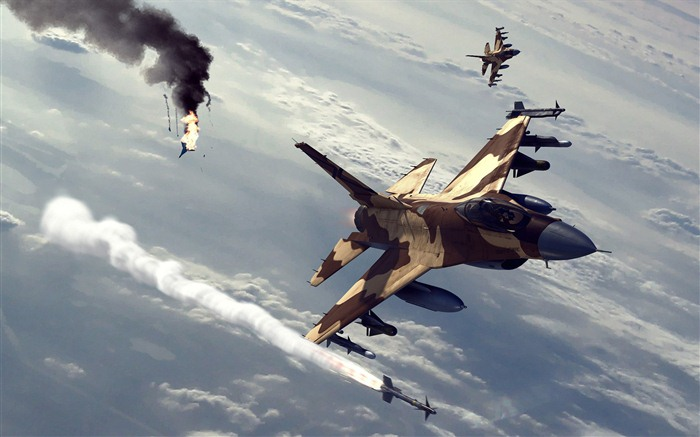Military fighter HD widescreen wallpapers #4
