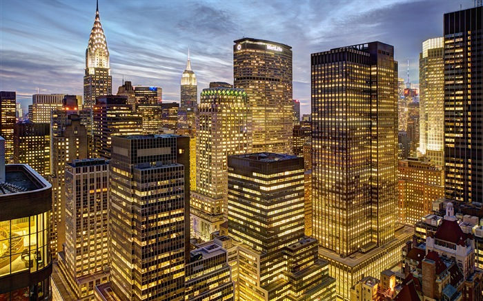 v3壁纸站 风景 壁纸 美国纽约帝国大厦城市夜景 高清壁纸 / 壁纸预览