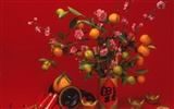 China Wind festive red wallpaper #49