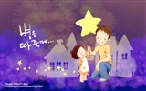 Father's Day theme of South Korean illustrator wallpaper