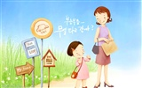 Mother's Day theme of South Korean illustrator wallpaper