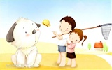 Lovely Children's Day Wallpaper Illustrator #19