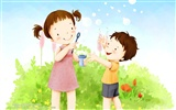 Lovely Children's Day Wallpaper Illustrator #21