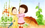 Lovely Children's Day wallpaper illustrator