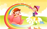 Vector Cartoon Child Wallpaper Album #17