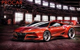 Fast sports car design wallpaper