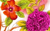 Floral wallpaper illustration design
