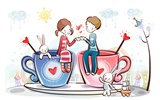 Cartoon Valentine's Day wallpapers (2)