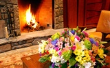 Western-style family fireplace wallpaper (1)
