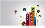 Vector musical theme wallpapers (4) #6