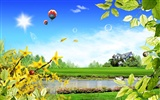 Photoshop sunny summer landscape wallpaper (2)