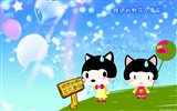 Baby cat cartoon wallpaper (2)