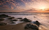 Windows 7 Wallpapers: Sunset Sunrise Beach #1