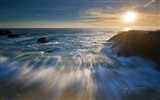 Windows 7 Wallpapers: Sunset Sunrise Beach #13