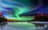 Natural wonders of the Northern Lights HD Wallpaper (2) #25