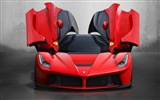 2013 Ferrari LaFerrari red supercar HD Wallpaper