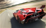 2014 Lamborghini Roadster Veneno rojo supercar HD wallpapers #2