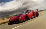 2014 Lamborghini Roadster Veneno rojo supercar HD wallpapers #3